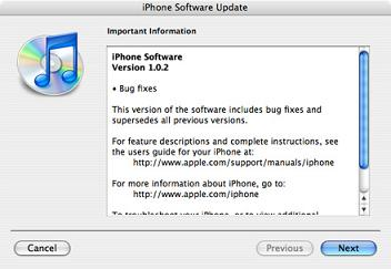 Apple iPhone 102 Software Update