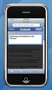 FaceBook on the Apple iPhone