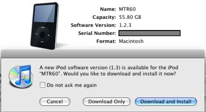 iPod 5 Generation Gets An Update To 1.3