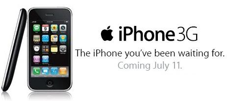 iPhone 3G Apple Cell Phone To Be Released on July 11th
