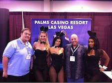 Chris and Bill with the Palms Las Vegas Playboy Bunnies