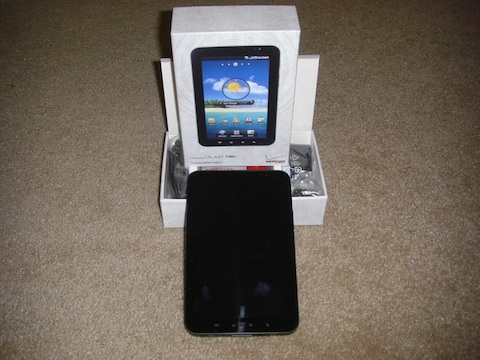 Samsung Galaxy Tab Box and Tablet