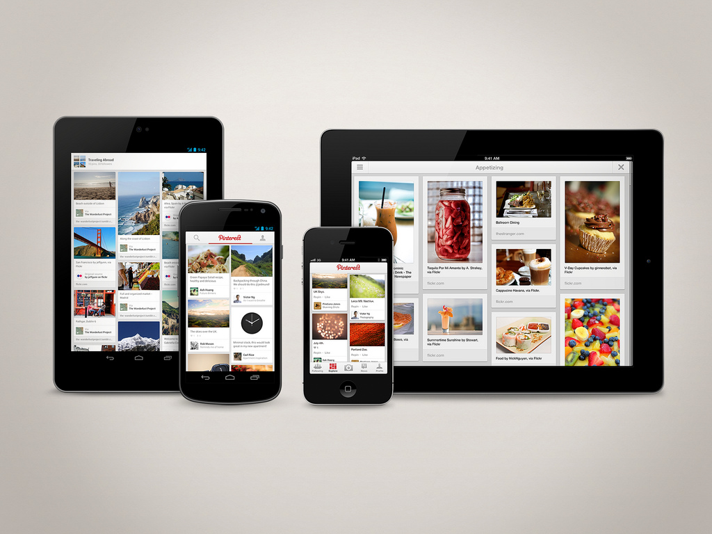 Pinterest Android and iOS App Interfaces