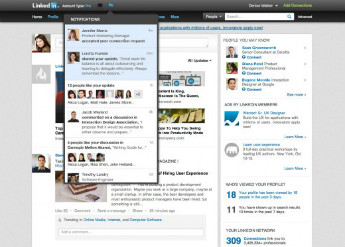 LinkedIn Website Notifications Update September 2012