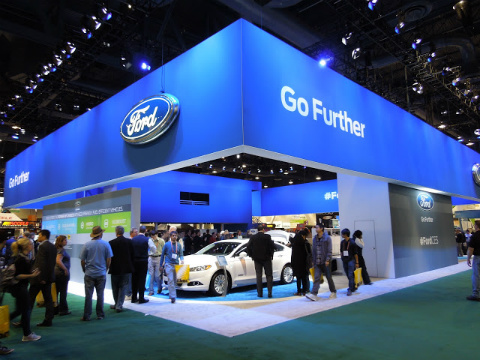 Ford Motor Company 2013 CES Booth By Bill Cody