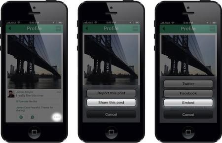 Vine App Sharing Embed