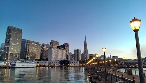 San Francisco, California Pier at dusk