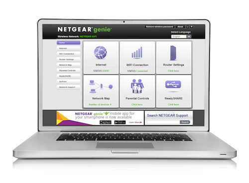 Netgear genie Router Admin Page