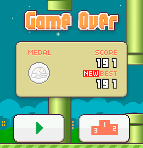 Flappy Bird 24k High Score 191