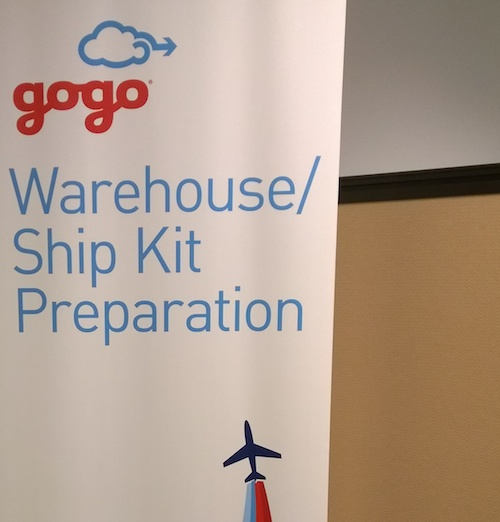 Gogo Warehouse Ship Kit Testing Sign