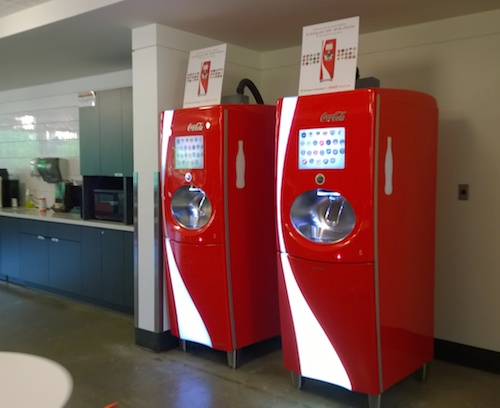 Microsoft Experimental Offices Coke Machines