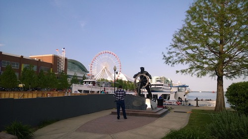 Navy Pier Navy Man Statue Front