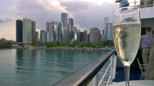 Spirit Cruises Sparkling Wine Chicago View