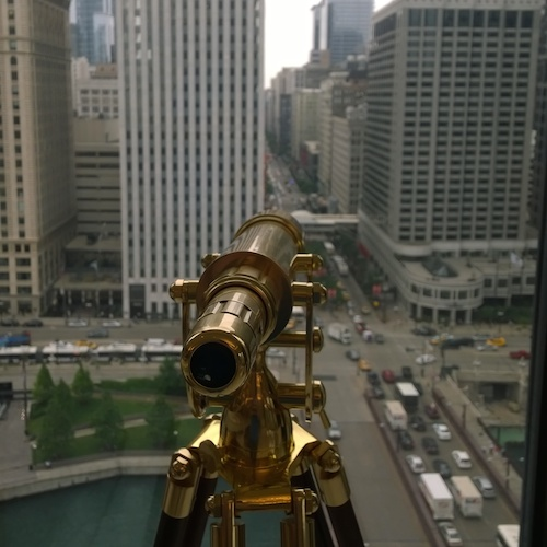 The Langham Chicago Club Level Periscope