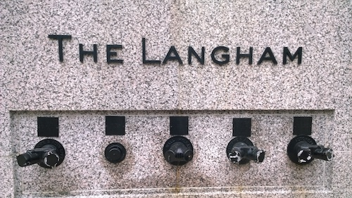 The Langham Chicago Sign