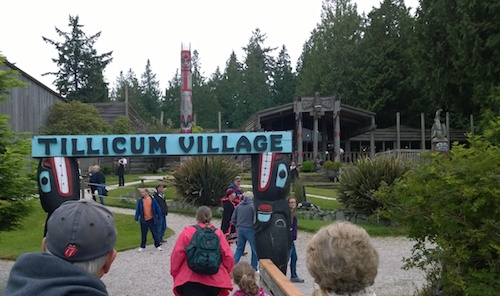 Blake Island Tillicum Village Welcome Sign
