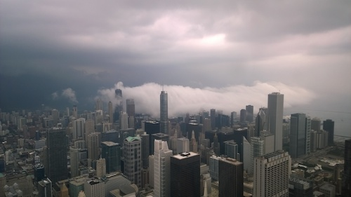Willis Tower Chicago Skydeck Fog