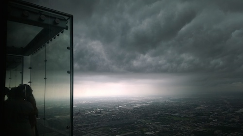 Willis Tower Chicago Skydeck Glass Box Storm
