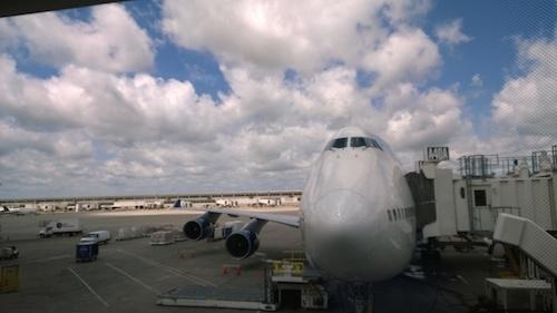 Detroit Airport DTW Delta 747 Jet