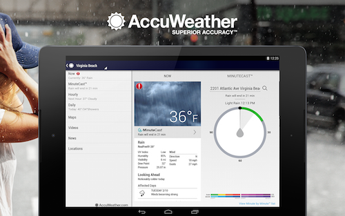 Accuweather Platinum Weather Android App