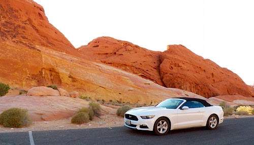 Ford Mustang Convertible Valley of Fire 2015