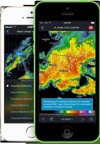 Radarscope Pro iOS App