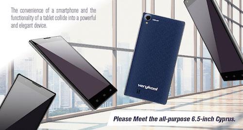 VeryKool s6001 Cyprus Six Inch Screen Smartphone