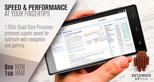 VeryKool s6001 Cyprus Quad-Core CPU