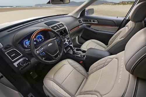 2016 Ford Explorer Platinum Driver View Sony Premium Audio