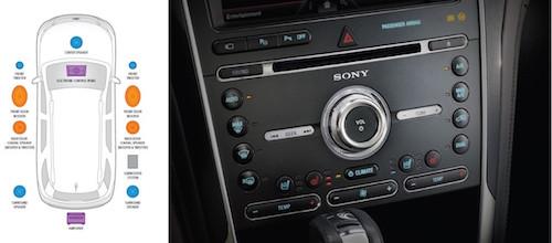 2016 Ford Explorer Platinum Sony Premium Audio Zones