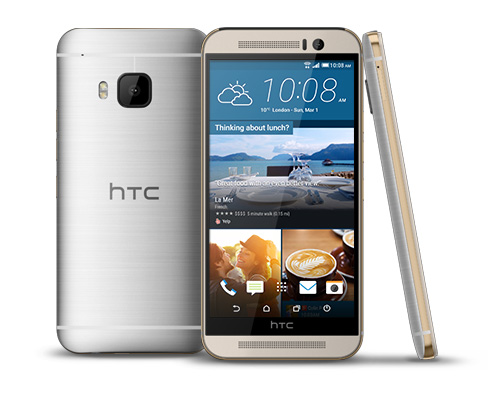 HTC One M9 Front and Side
