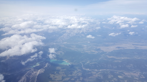 Lake From Above Westjet Kamloops Flight