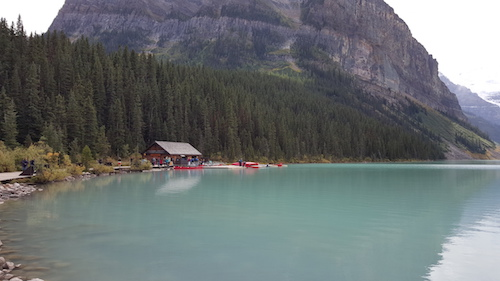 Lake Louise Red Canoe