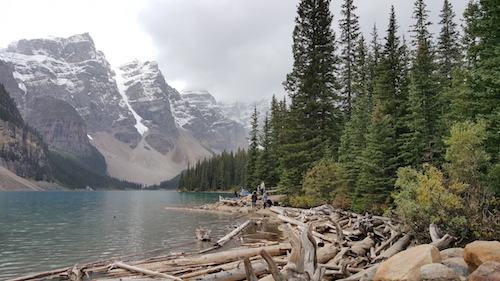 Moraine Lake with Canadian Mountains