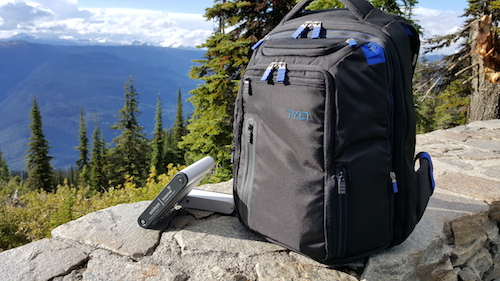 Mount Revelstoke Summit With The Wideye Inmarsat IsatHub & TYLT Energi Backpack