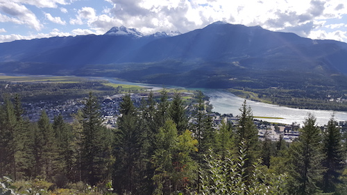 Revelstoke Valley City View From Mount Revelstoke