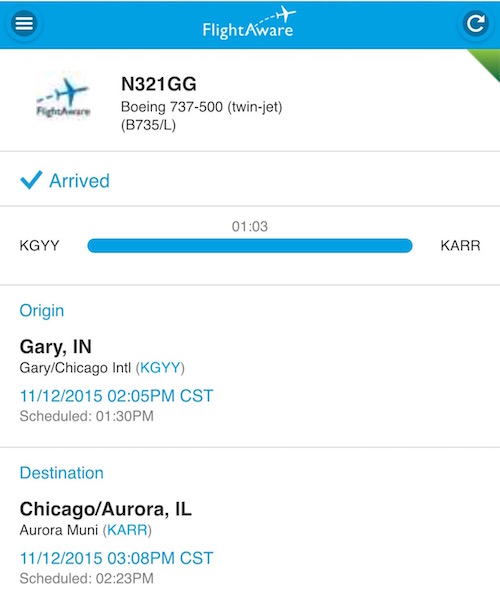 Flightaware Gogo Jet Flight Info