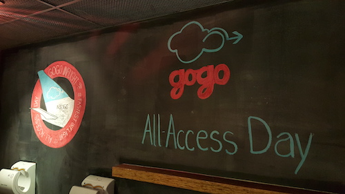 Gogo All Access Day After Event Chalk Drawing