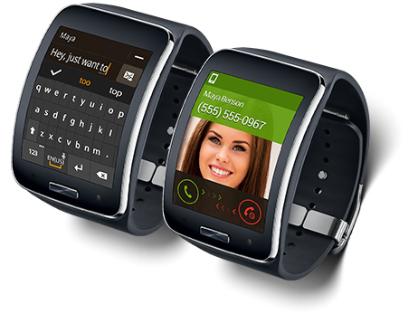 Samsung Gear S Texting Phone Call