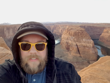 Chris SeV Knowmatic Hoodie Selfie Horseshoe Bend