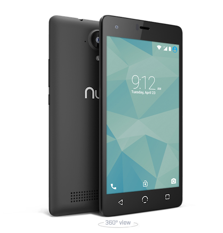 NUU Mobile N4l Smartphone Front and Back