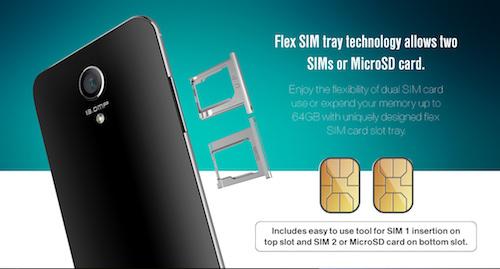 VeryKool SL5011 Flex SIM Tray