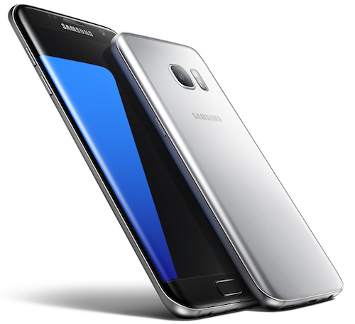 Samsung Galaxy S7 Edge AT&T Front and Back