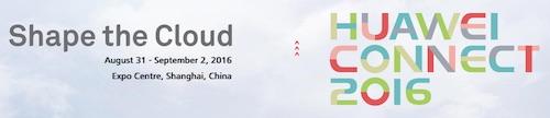 Huawei Connect 2016 Shanghai China
