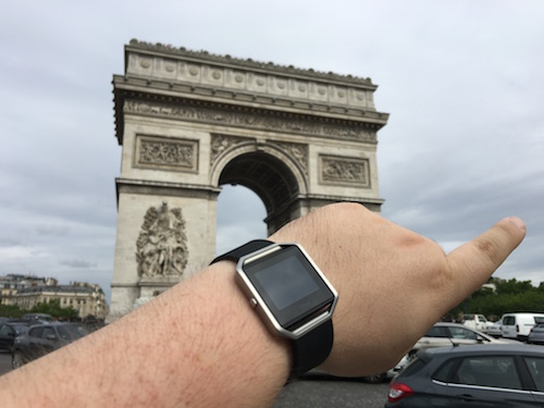 Fitbit BLAZE in Paris France