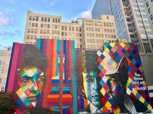 Bob Dylan Mural Downtown Minneapolis