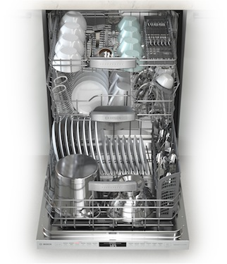 Bosch 800 Dishwasher Loaded