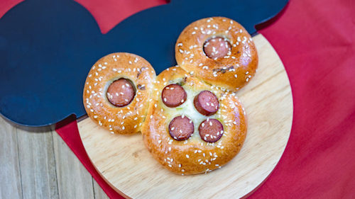 Lunar New Year Festival Mickey Chinese Hot Dog Bun